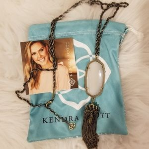 Kendra Scott Rayne Necklace - White Banded Agate